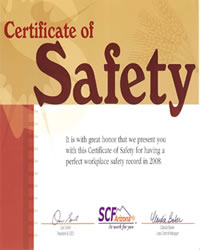 2009 SCF Safety Awards to Desert Sky Development