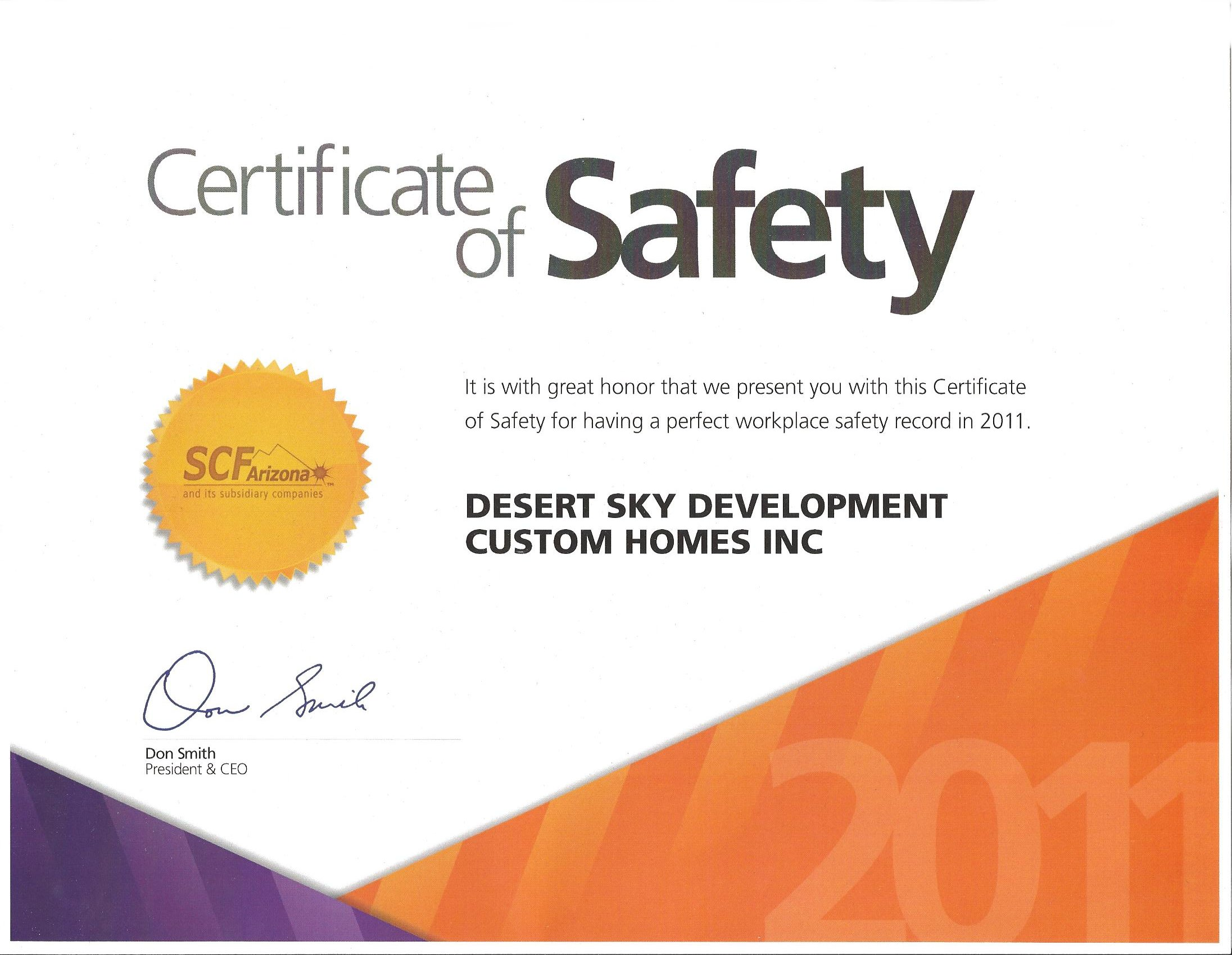 2011 SCF Safety Award